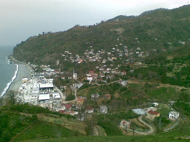 Вид на Сарп и Сарпи с горы на турецкой стороне