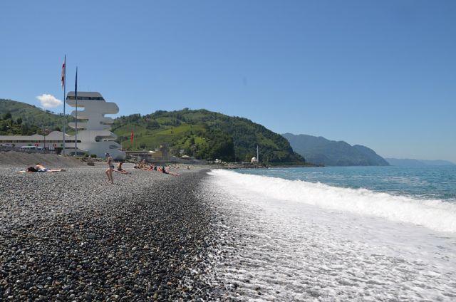 Пляж свободный, море чистое